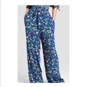 Xhilaration High Waisted Wide Leg Floral Pants